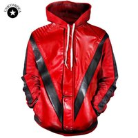 Wholesale dropship clothing women - 3d Hoodies Men Women Thriller Jacket Printing Sweatshirt Hooded Streetwear Tops Michael Jackson Tracksuit Mens Clothing Dropship