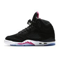 zapatos rosa salmón al por mayor-Cheap womens Jumpman 5 zapatillas de baloncesto 5s Pink Salmon Red Suede Bel Air Metallic Gold Olympics OG aj5 zapatillas de vuelo para niños niños Niñas