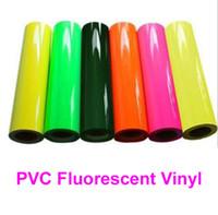 "Wholesale Fluorescent Vinyl - 1 sheet 25cmx100cm (10""x40"") PVC fluorescent vinyl Neon vinyl for heat transfer heat press cutting plotter Made in South Korea"
