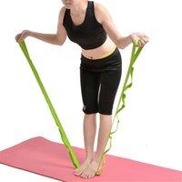 ingrosso cintura di corda di yoga-Cintura multifunzione Yoga Stretching Belt Corda Yoga Stretching Aids Assistant Training Supplies for Leg Fitness