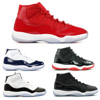 Wholesale Fall Kid - With Box Wholesale 11 Gym Red 11s Heiress Black Stingray OVO Midnight Navy Bred Shoes 11s Mens Womens Kids Basketball Sneaker Drop Ship