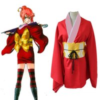 Wholesale kagura cosplay for sale - Anime Gintama Cosplay Costume Kagura Uniform Kimono Suit