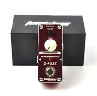 gitarlar için efektler toptan satış-Alüminyum Alaşım Aroma AGF-3 Vintage Germanyum Fuzz Gitar Efekt Pedal