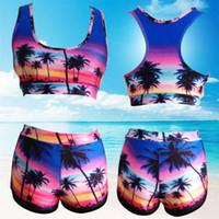 ingrosso bikini chic-2018 Hot Female Fission Due pezzi Costume da bagno bikini a coste sexy e chic Bikini a vita alta Costume da bagno costumi da bagno