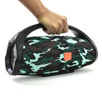 ücretsiz subwoofer hoparlörleri toptan satış-BoomBox 888 Taşınabilir Müzik Bluetooth Hoparlörler 3D Bas HIFI Hoparlörler Subwoofer'lar 25 W Outpower Smartphone Eller Serbest TF USB Müzik sütun Kutusu