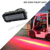 luces de advertencia toyota al por mayor-10 unids Red-Zone LED luz de advertencia de seguridad peatonal luz de reserva de trabajo para toyota carretilla elevadora maquinaria pesada maquinaria agrícola