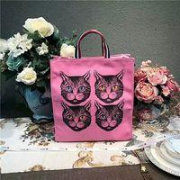 Wholesale genuine leather fringe handbags - High quality Cat Fashion Brand Bag fashion fringe single shoulder bag women's high quality canvas handbag new mommy bags