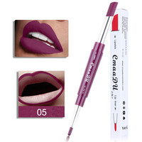 Wholesale orange lipstick matte online - CmaaDu Lipstick Lip Liner in Sexy Beauty Pigment Matte Lipstick Pencils Moisturizer Lips Makeup Kit Colors DHL