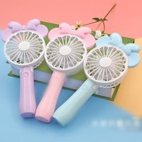 Wholesale mini folding usb fan - Mini Folding Portable Fan Cartoon USB Rechargeable Foldable Handheld Air Cooler Cooling Fan Portable Fan Party Favor 6 Styles OOA4920