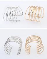 Wholesale open cross ring - Fast selling popular style European hand jewelry wholesale open mesh bracelet punk exaggerated arm ring double cross bracelets