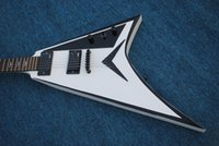 Wholesale best guitars online - Vicers A white black side of the electric guitar best selling
