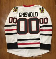 hokey yılbaşı hediyeleri toptan satış-CCM Chicago Blackhawks Hokeyi Formalar Beyaz 00 Clark Griswold Vintage Moive Ulusal Lampoon 'ın Noel Tatili Jersey Hediye Jers