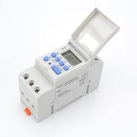 interruptor temporizador lcd digital programable al por mayor-Digital LCD Power Timer Electrónico Semanal 7 Días Programable Digital Timer Switch Relay Control 220-230V 6-30A
