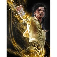 Wholesale new cross stitch kits for sale - Group buy Michael Jackson D DIY Mosaic Needlework Diamond Painting Embroidery Cross Stitch Craft Kit Wall Home Hanging Decor