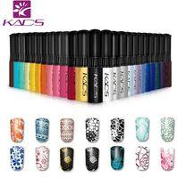 ingrosso colori del chiodo della bottiglia-KADS Stamp polish 16 Bottle / LOT Nail Polish Polish Nail Art Pen 31 colori Opzionale 10g Più coinvolgente 4 stagioni