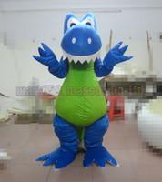 ingrosso vendite di giocattoli adulti-La dimensione adulta libera di trasporto del costume della mascotte del dinosauro blu, partito lussuoso di carnevale del giocattolo della peluche del drago celebra le vendite della fabbrica della mascotte.