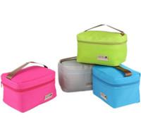 küçük öğle yemeği çantaları toptan satış-Pratik Küçük Taşınabilir Buz Torbaları 4 Renk Su Geçirmez Soğutucu Çanta Öğle Eğlence Piknik Paket Bento Kutusu Gıda Termal Çanta