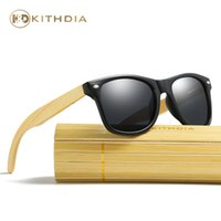 Wholesale Bamboo Picture Framing - Kithdia Black PC Frame Sunglasses Handmade Bamboo Legs Sunglasses Polarized and Support DropShipping   Provide Pictures #KD022