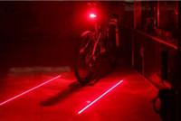Wholesale rear light bike online - Bicycle LED Tail Light Safety Warning Light LED Laser Night Mountain Bike Rear Lamp Bycicle Light