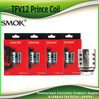 Wholesale coil head core - Original SMOK TFV12 Prince Cloud Beast Coil Head V12 Q4 X6 T10 M4 New Mesh Strip 0.15ohm Replacement Coils Core Tank 100% Authentic SmokTech