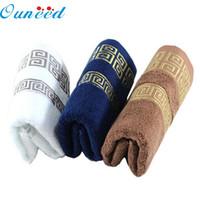 schwarze zaubertücher großhandel-Null 100% Baumwolle Volltonfarbe Handtücher Großes Badetuch Badetuch Handtuch Gesicht Neu