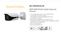 dahua network kamera mermisi toptan satış-Stokta DAHUA IP Kamera Ile 8MP WDR IR Mini Bullet Ağ Kamera POE Logo Olmadan POC
