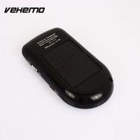 Wholesale solar bluetooth car kits resale online - Vehemo Sun Visor Solar Charging Wireless Transmier Bluetooth Bluetooth Car Hands Free Stereo Bluetooth Car Kit MP3 Home Mic