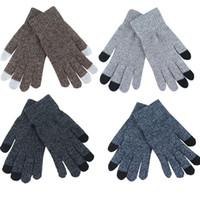 Herren-handschuhe Paar Mode Künstliche Wolle Handschuhe Finger Handschuh Winter Weiche Männer Frauen Solide Halb-finger Warme