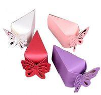 novas caixas de presente do bebê venda por atacado-Nova moda Borboleta Caixas De Bombons Favor de Presente Caixa de Bombons Estilo Do Bolo para a Festa de Casamento Do Chuveiro de Bebê Doces Caixas De Armazenamento