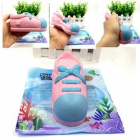 Wholesale dance shoes charms - PU Squishy Kawaii Shoes Dancing Shoes Slow Rising Soft Jumbo Squeeze Phone Charms Decompression Toys Gift AAA241