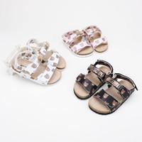 bebek ayakkabı deseni sandaletler toptan satış-Yeni Desen Kız Sandalet kaymaz Kauçuk Yumuşak Alt Prenses Ayakkabı Karikatür Çocuk Bebek Tek Ayakkabı
