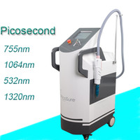 Wholesale red acne spots - Professional red Laser Picosecond laser Tattoo Freckle Removal Mole Dark Spot Pigment Remover Laser Acne Treatment Machine Beauty Care