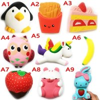 Wholesale soft toys for kids - DHL Squishy Toy pegasus penguin squishies Slow Rising 10cm 11cm 12cm 15cm Soft Squeeze Cute Cell Phone Strap gift Stress for children toy