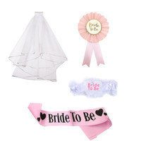Wholesale hens night gift resale online - Eco Friendly Chicinlife set Bride To Be Balloon Bridal Sash Badge Garter Sash Hen Night Gifts Bachelorette Party Sash Wedding Decoration