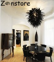 Wholesale Modern Hall Table - Modern Chandelier Lamps in Black color LED Light Source Table Top Lighting Interior Design Dale Chihuly Style