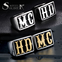 уникальный hd оптовых-стальной солдат мужчины панк MC HD байкер кольцо из нержавеющей стали фильм стиль ювелирные изделия титана уникальные ювелирные изделия