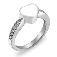 Wholesale stainless steel eternity - Charm Crystal Inlay Eternity Ring #6#7#8#9 Stainless Steel Memorial Finger Ring Cremation Jewelry for Ashes Urn Ring Ash Jewelry