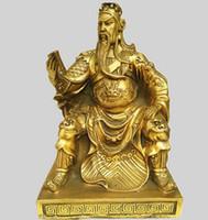 ingrosso guan yu statua-Una statua in bronzo di Guan Gong ornamenti in rame Buddha Book Guan Yu Guan Er Ye Wu Dio della ricchezza