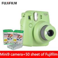Wholesale New Fuji Camera - New 5 Colors Fujifilm Instax Mini 9 Instant Photo Camera + 50 sheet Fuji Instax Mini 8 White Film + Close up Lens