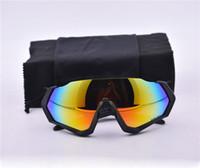 binicilik bisiklet gözlükleri toptan satış-Yeni Marka Radar Uçuş Jacke polarize güneş gözlükleri kaplama sunglass kadınlar için adam spor güneş gözlüğü sürme gözlük ile Bisiklet Gözlük kutu
