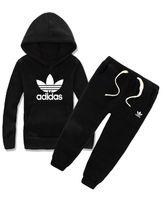 Discount kids clothes hoodies - Children Clothing Sets Spring Autumn Baby Boys Girls Clothes Sets Fashion Hoodie+ Pants 2 Pcs Children's Suits kids Tracksuit