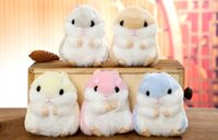 Wholesale Hamsters Free Shipping - Classic Japan Lovely Hamster Pendant Keychain Plush Doll Toy Animation Boutique Bag Pendant 10PCS LOT 10CM Free Shipping!!