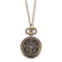 montres couleur cool achat en gros de-Montre de poche en bronze couleur de quartz montre à quartz
