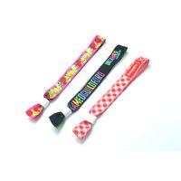 correas de cinta al por mayor-Pulseras de tela de sublimación impresas personalizadas Correas de tela de cinta Pulseras de poliéster Fiestas ajustables Eventos del festival Bandas de muñeca