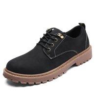 bequeme slip-arbeit schuhe großhandel-Mens Bequeme Beiläufige Werkzeugstiefel Männer Mode Britischen Schuhe Anti-Slip Verschleißfeste Arbeitsschuhe Frühling Herbst Stiefeletten