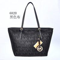 Wholesale Canvas Letter Bag - 2018 fashion Famous fashion brand name women handbags Canvas Shoulder bag chains of large capacity bags Letter bag 6820