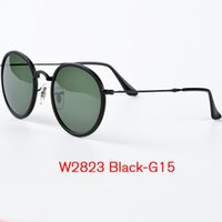 Wholesale Mirror Copper - Top Quality Summer Pilot Sunglasses for Men Women Gafas de sol oculosQuality Rey band Sunglasses Metal Folding Fram