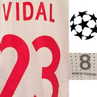 Wholesale Machine Embroidery Cotton - 2018 UCL Match Worn Player Issue Vidal Muller Lewandowski James Soccer Patch Badge Fabric and Sewing