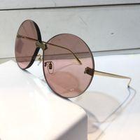 Wholesale sunglass online - Luxury Designer Sunglasses For Women Fashion Sunglasses Wrap Sunglass Frameless Coating Mirror Lens Carbon Fiber Legs Summer Style