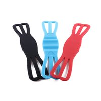 Wholesale security stand - 2017 New Silicone Rubber Elastic Security Band for Bike Motorcycle Handlebar Car Mount Holder Cradle Bicycle Phones Stand